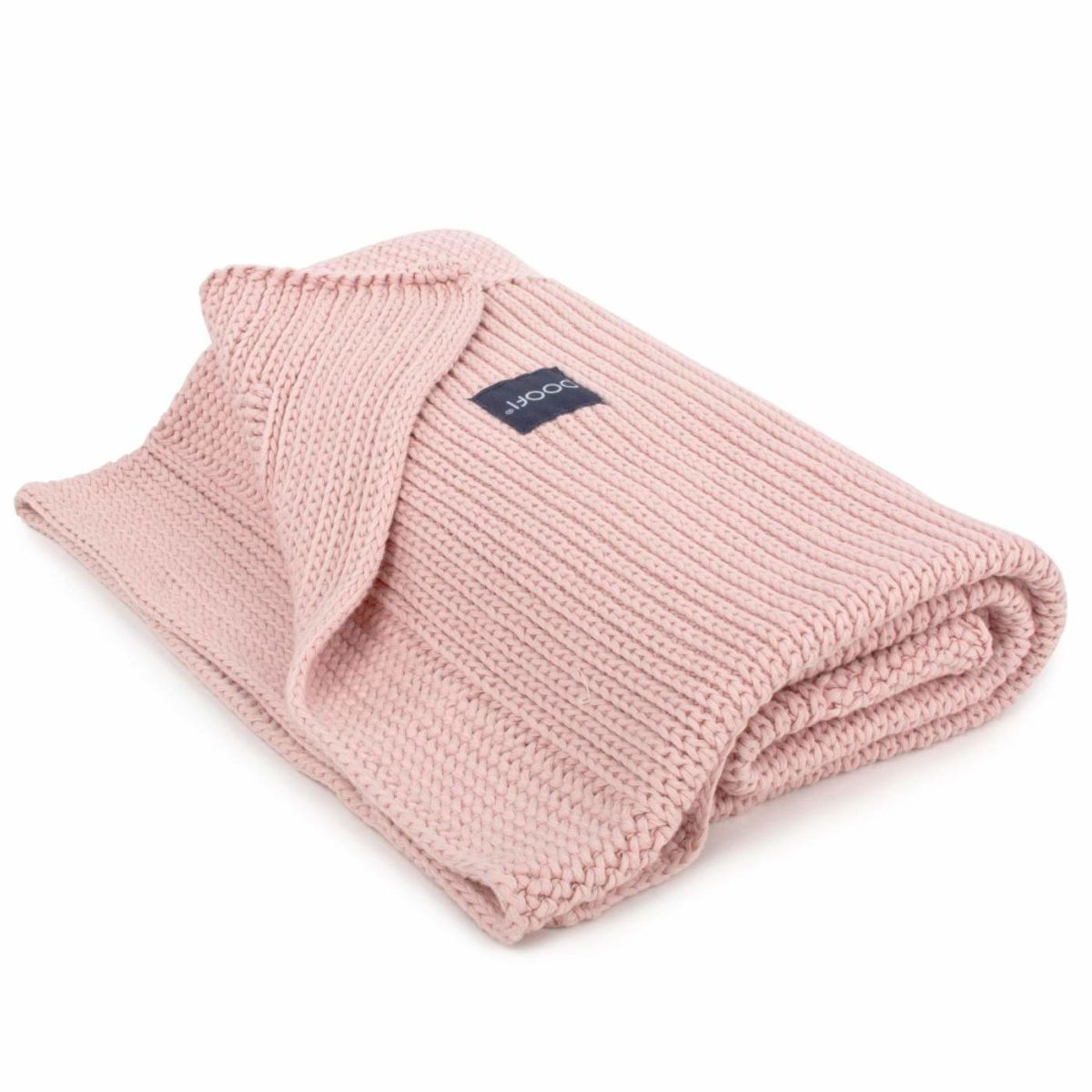Gestrickte Decke, BioBaumwolle, vintage pink