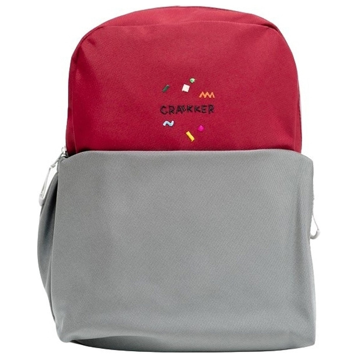 Kids Backpack ROOK - Bordeaux - Grau