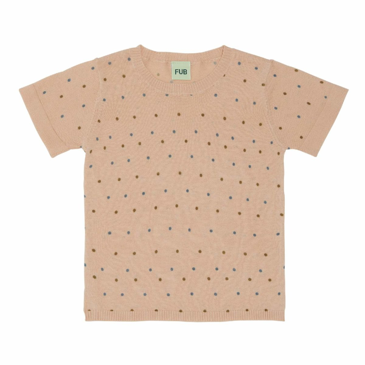 T-Shirt dots, rosé/sienna/blue