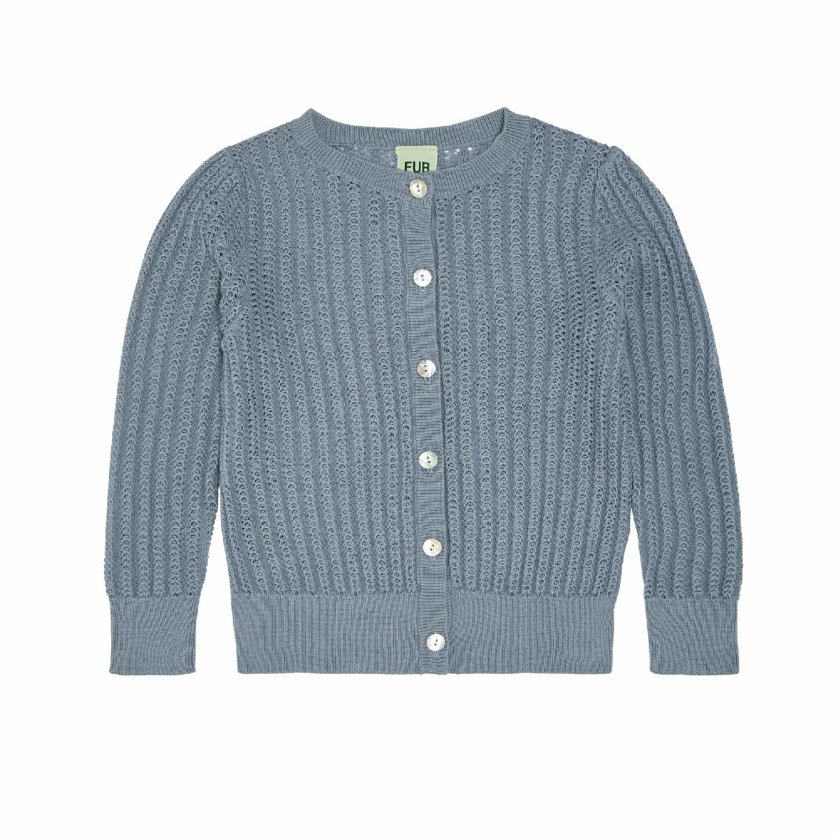 Pointelle Cardigan, blue