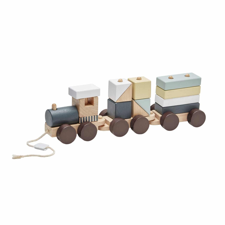 Zug mit Holzklötzen Edvin