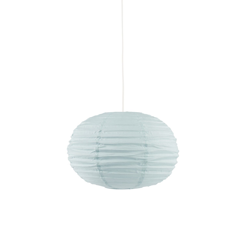 Lampenschirm Edvin oval grün Ø 40 H 30 cm.