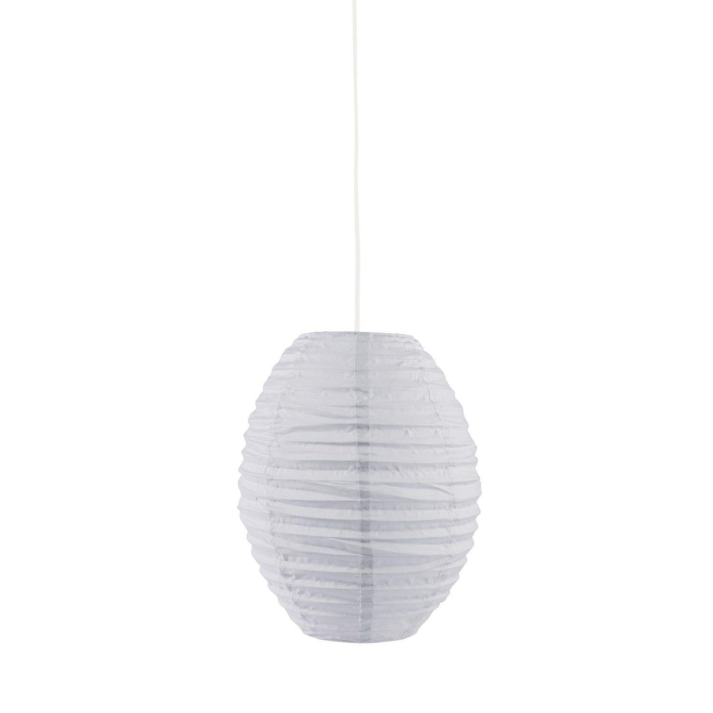 Lampenschirm Edvin oval grau Ø 40 H 30 cm.