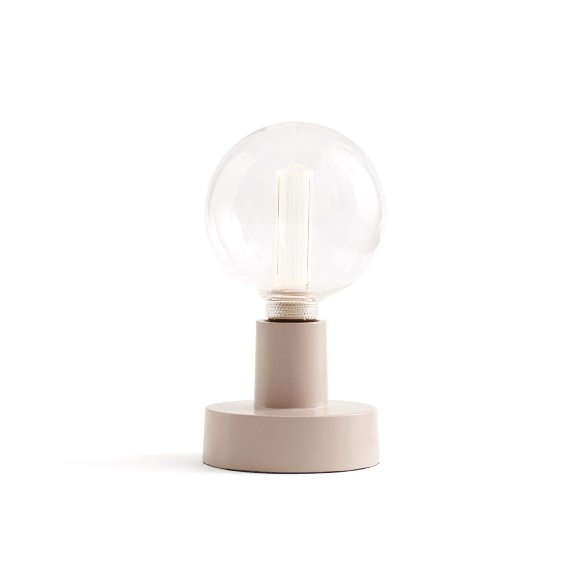 Tisch-/Wandlampe Metall rosa Ø 12 cm.