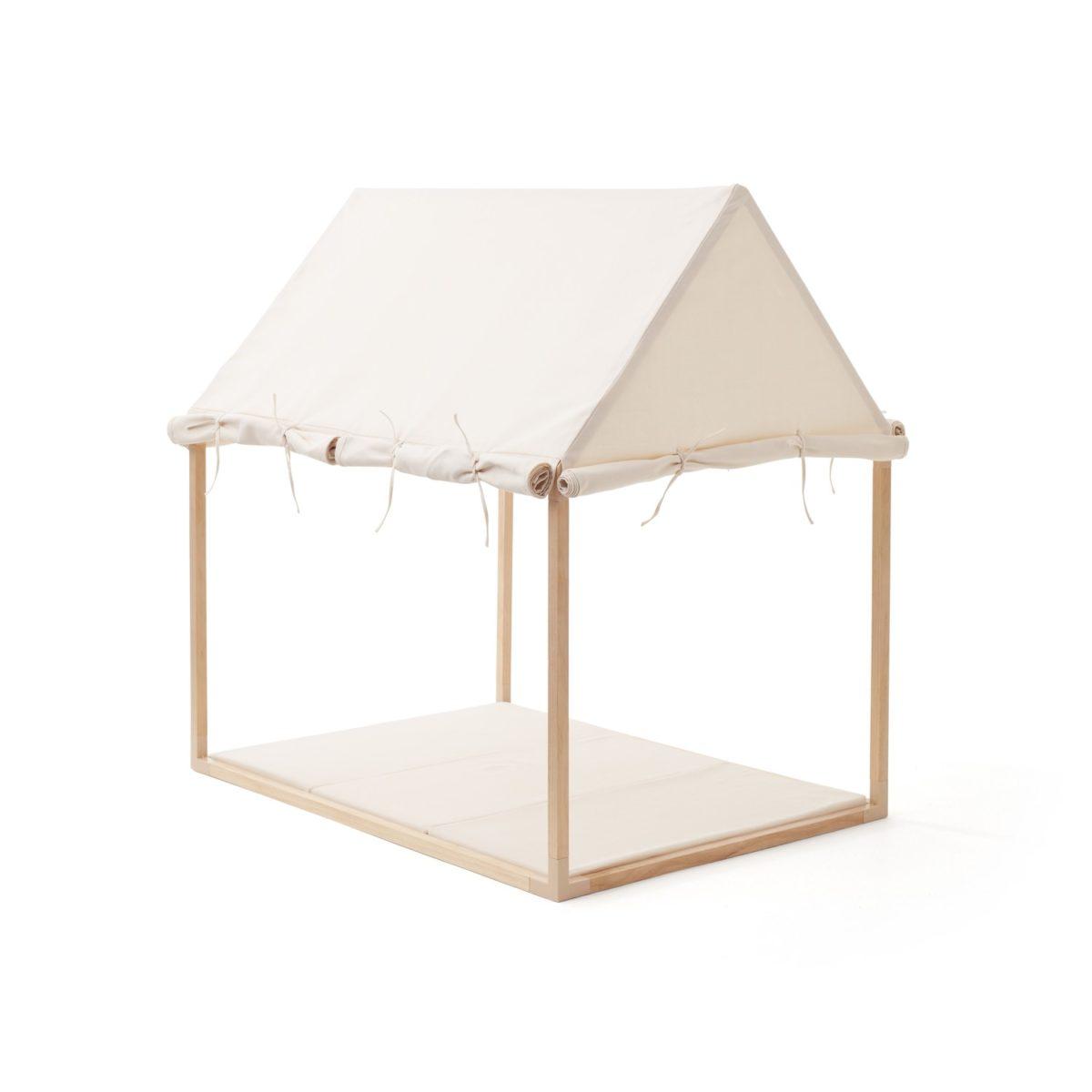Hauszelt 110x80 cm, H 119 cm beige