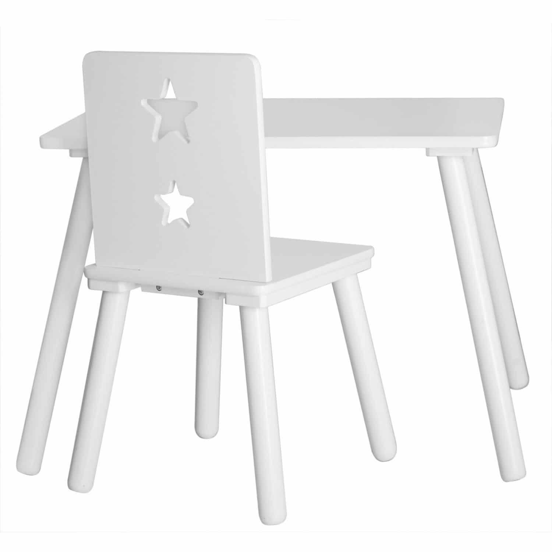 Tisch 60x42, Höhe 45 cm, Star weiß