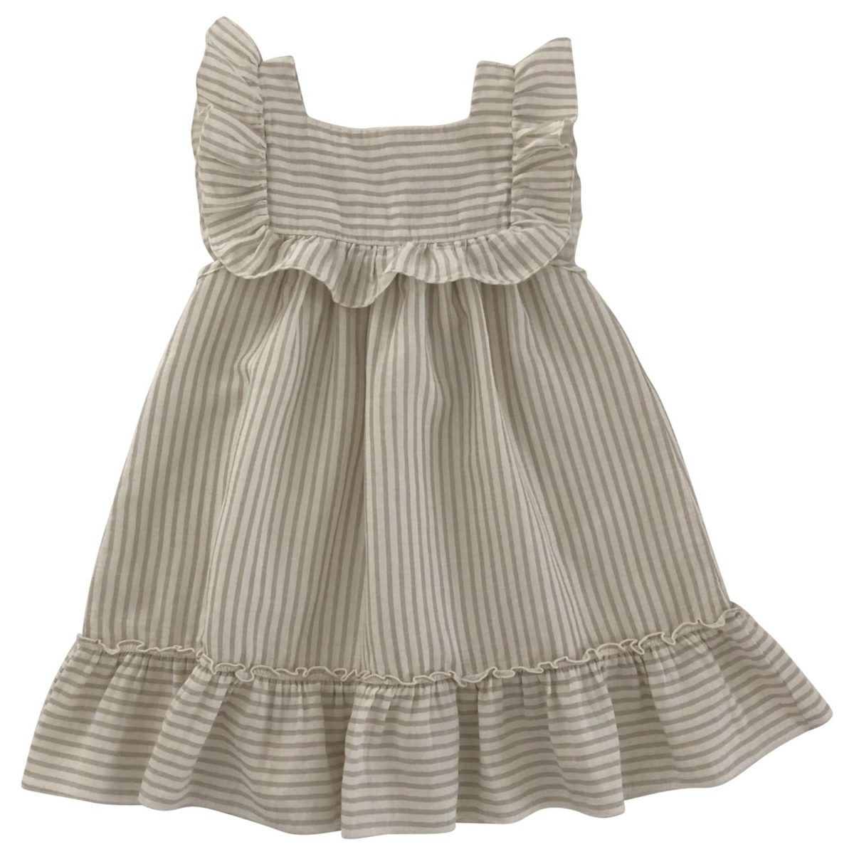 Lina Dress, Sandy Stripes