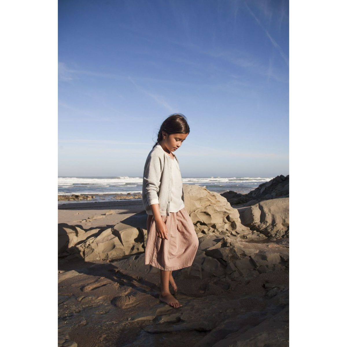 Maxi Rock Solana, Terracota-Gingham