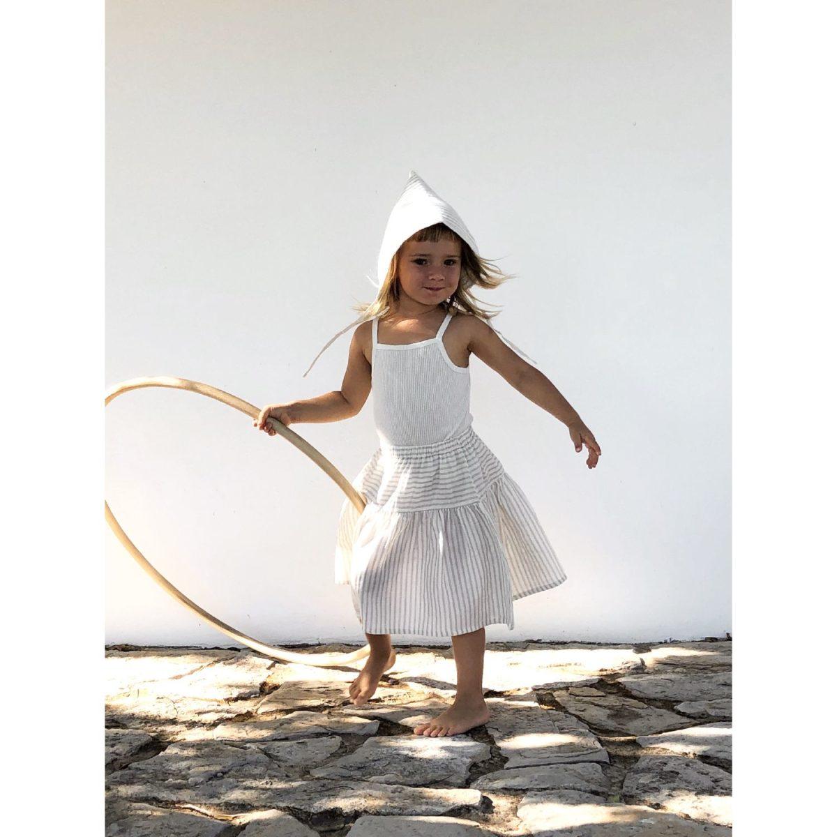 Nala Skirt, Sandy Stripes