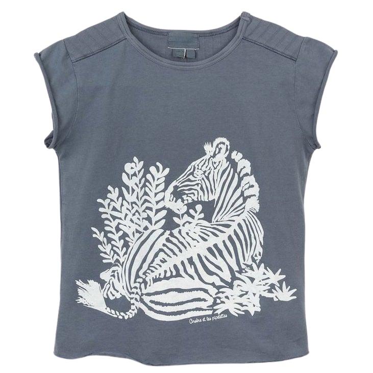 T-Shirt Simone, Zebra, anthrazit