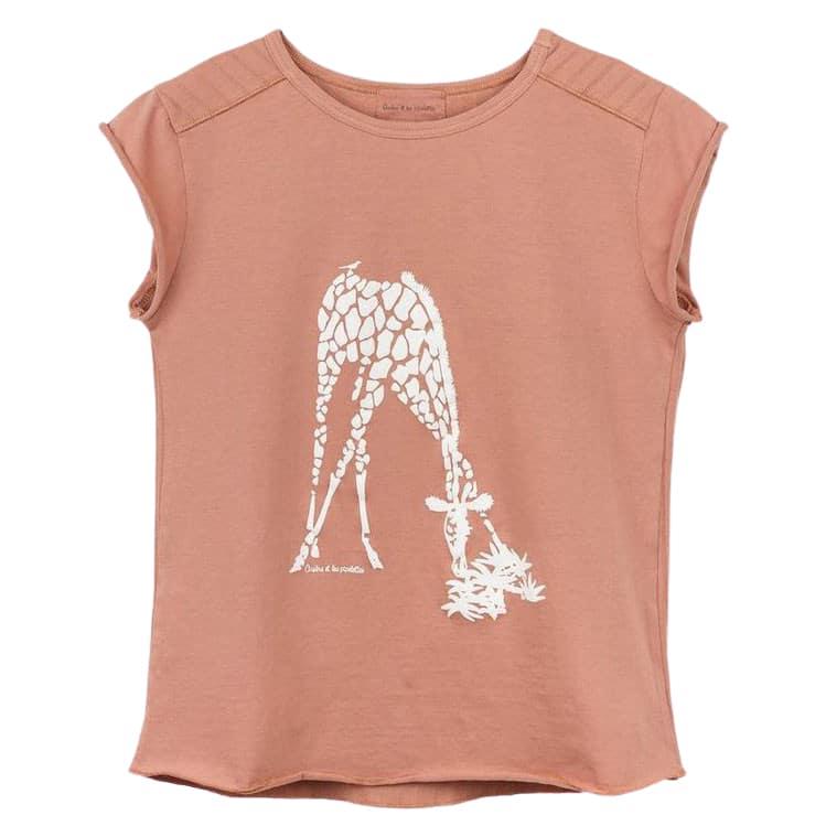T-Shirt Sylvene, Zebra, terracota