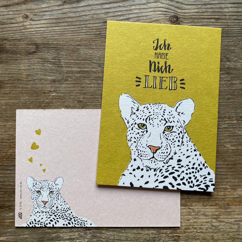 KYUTE Postkarte KIMBU ich hab dich lieb