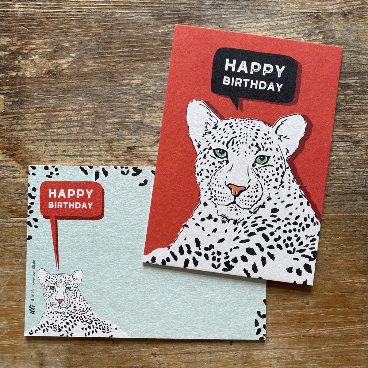 KYUTE Postkarte von illi KIMBU HAPPY BIRTHDAY