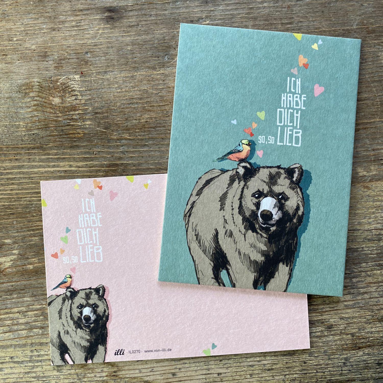 KYUTE Postkarte von illi TATI