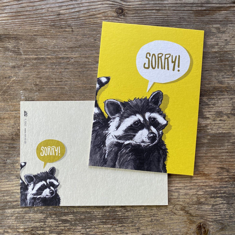 KYUTE Postkarte von illi SORRY