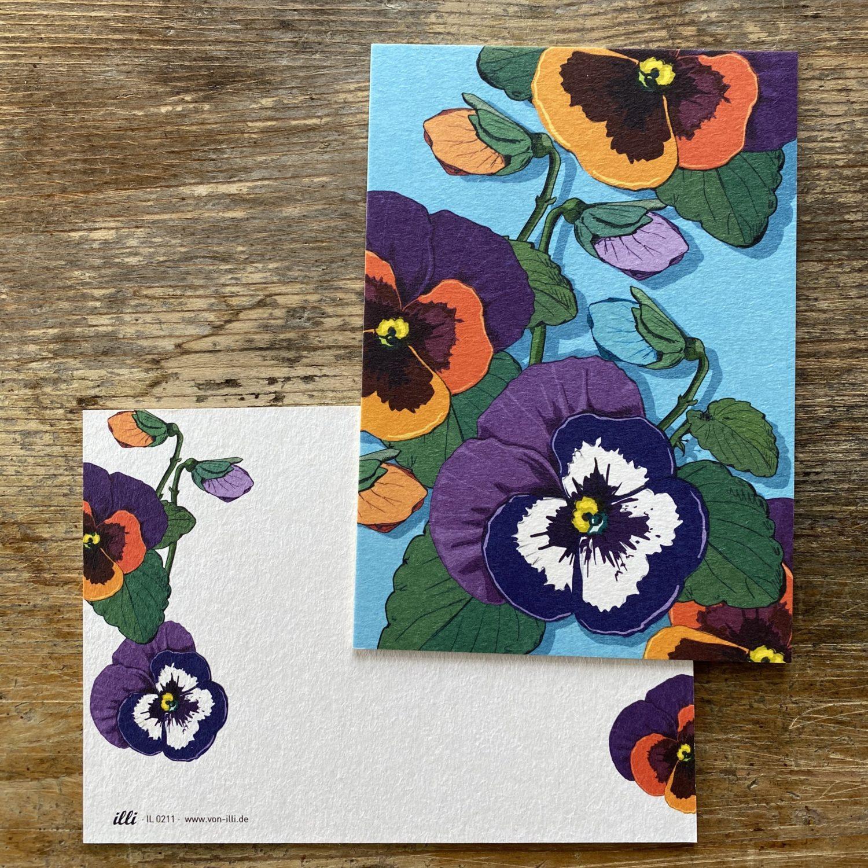 KYUTE Postkarte von illi VIOLA